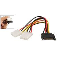 5x sprzedaż! Czarny Sata 15 Pin męski na żeński 4 Pin adaptera IDE kabel zasilający przewód w Złącza od Lampy i oświetlenie na