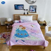 דיסני קפוא אלזה ואנה מכסה כותנה מצעי שמיכות שמיכות קיץ של הילדה תינוק עיצוב חדר השינה של ילדים 150*200 ס