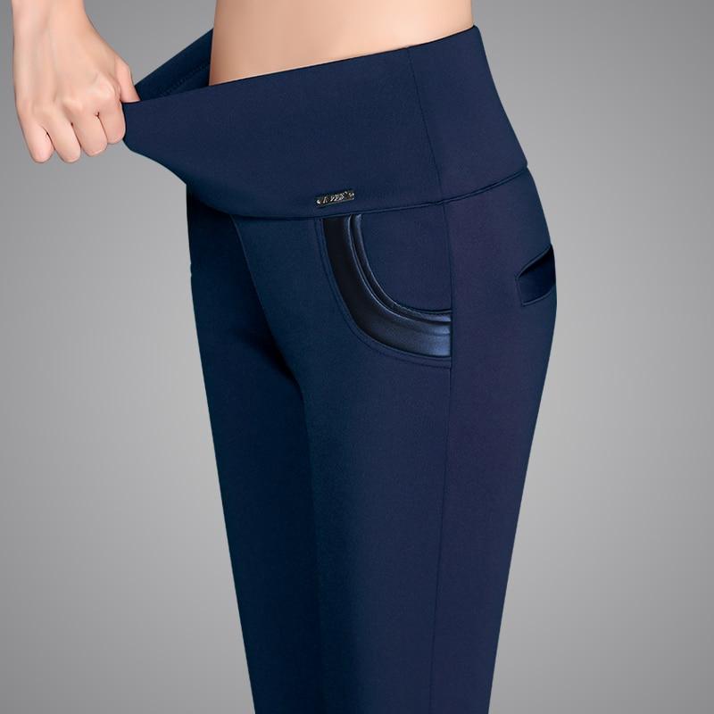 FSDKFAA 2018 High Quality Plus Size S- 6XL Lady High Waist Control Leggings Fashion Women Slim Stretched Comfortable Leggings