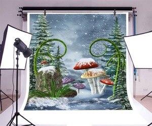 Image 2 - خلفيات تصوير Laeacco Wonderland لصور وخلفيات تصوير لصور فطر الغابات وخلفيات لأعياد ميلاد الأطفال