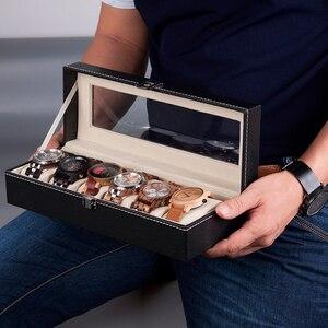 Image 5 - BOBO BIRD boîtier dexposition en cuir PU, boîtier de rangement de montres et de bijoux, 6 fentes 10 fentes