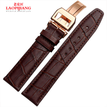 laopijiang Men really Leather Watchband for pilot Portugal fashion watches accessories 20 21 22mm