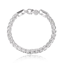цены Promotion Sale 925 Sterling Silver 5MM Chain Bracelet & Bangle for women men's bracelet jewelry accessories