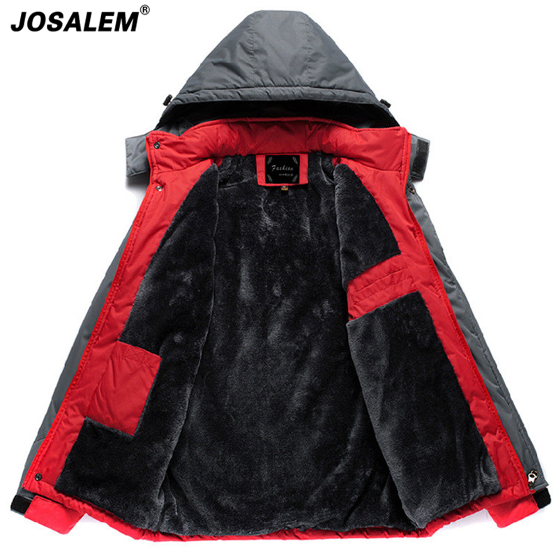 New Winter Men Thermal Thick Velvet Jacket Man Warm Warm Hooded Parkas Male Waterproof Windproof Touris Outerwear Coat Plus Size