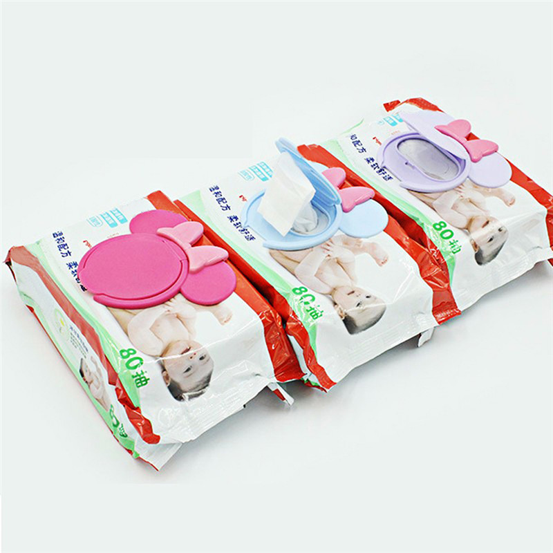 New Baby Wet Paper Lid Cartoon Mobile Wet Wipes Cover Reusable Wet Tissue Lid for Baby Skin Care Tools