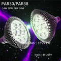 New  Bright E27 PAR20 Par30 PAR38 LED Light Bulb Lamp 85-265V 14W 18W 24W 30W 36W LED SpotLight Lamp Bulbs Indoor Lighting