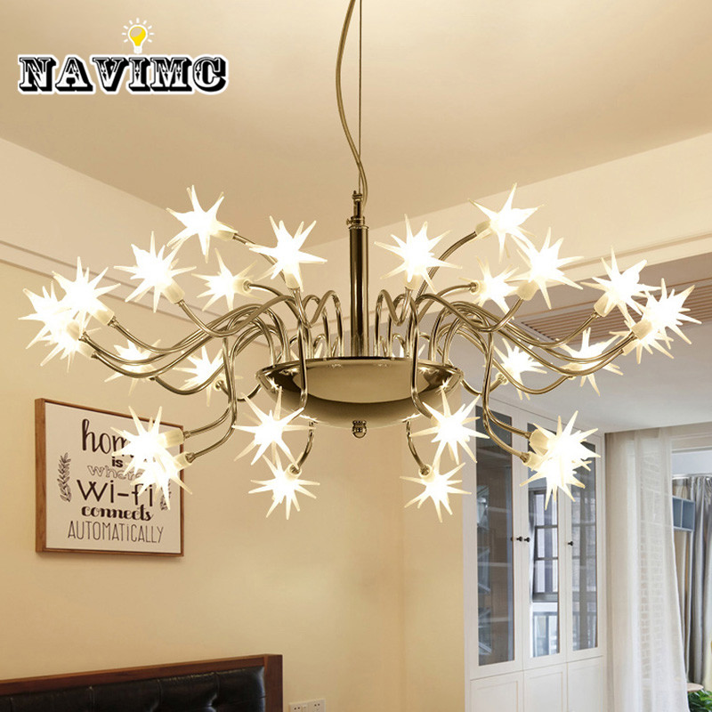 LED Pendant lights Meteor Shower Living Room Dining Room Lights Scandinavian Hall Lights Bedroom Lamp Art Simple Modern Lighting modern simple european style dining room lighting american hollow carved iron bedroom pendant lights