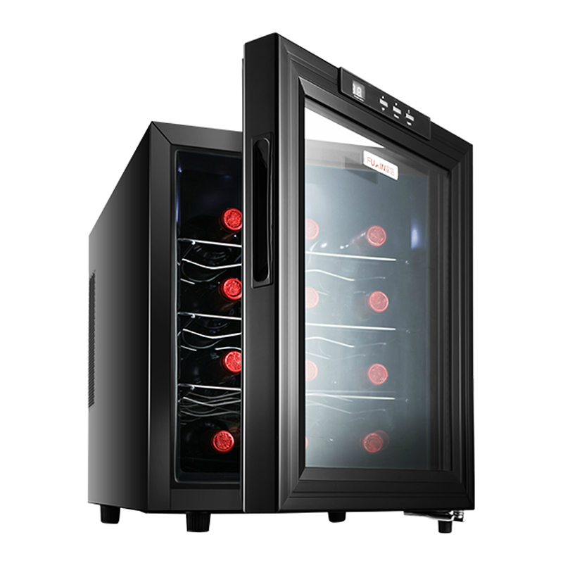 4 Layers Red Wine Refrigerator Adjustable Thermostat Temperature Humidity Small Household Wine Cooler Refrigerator Cigar Cabinet