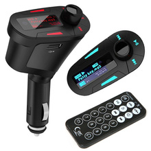 Coche Transmisor FM Reproductor de Audio MP3 Con Modulador de FM Car Kit Manos Libres Inalámbrico de Control Remoto Pantalla LCD w/TF ranura