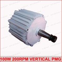 100 Вт 200 об./мин. 14vdc низких оборотах горизонтального ветра и гидро генератор/постоянный магнит сила воды dynamotor гидро