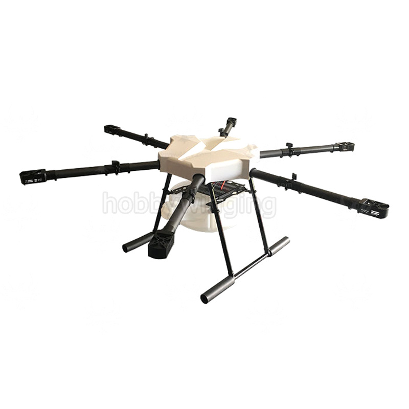 JMRRC Integrated Carbon Fiber Tube arm 6-axis Agriculture drone w/10KG/10L spraying gimbal system 1200mm Folding UAV Hexacopter 4 axis waterproof spray agriculture drone frame w 10l tank spraying system 1300mm wheelbase folding uav 10kg hexacopter