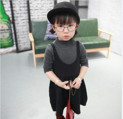 designer fashion 533bd 43cfd US $21.33 |2016 autunno nuovi bambini delle ragazze vestiti alla moda  maglieria primer camicia pullover + vestito 2 pz vestiti serie di abiti in  2016 ...