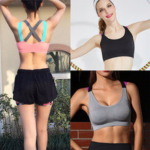 3c79466239 Running Athletic Vest Underwear Fitness Push Up Cross Strap Sports Yoga Bra  Shockproof Moisture Wicking Quick-drying Breathable