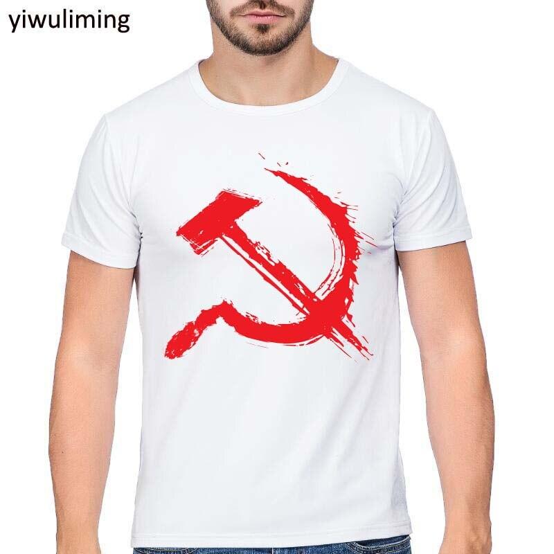 New Soviet Union The Great Communist Lenin T Shirts Men's Short Sleeve T-Shirt USSR CCCP Communism Tops