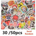 30/50pc Mixed funny stickers for laptop sticker decal fridge skateboard PVC stickers for Travel Suitcase Wall Pencil Box toy