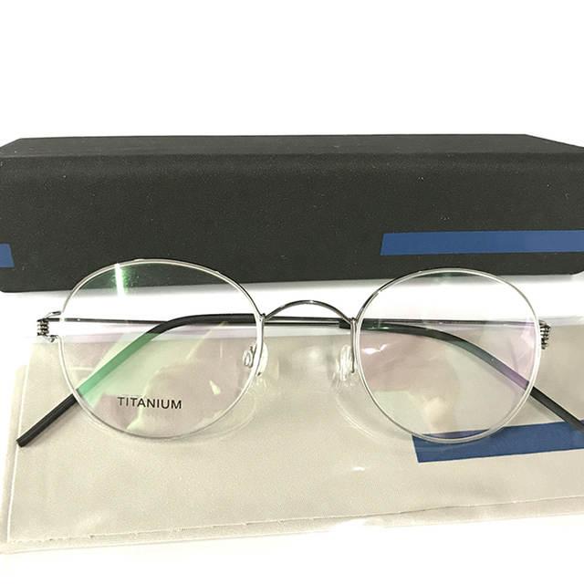 7c41d5294b2 Men Round Denmark Handmade Korean Glasses Frames Screwless Eyewear  Eyeglasses Prescription Morten Optical Frames
