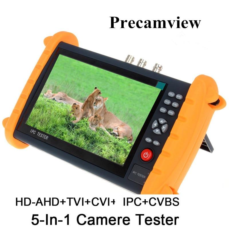 7 Inch HD CCTV Tester Monitor IP TVI CVI AHD Analog Camera Tester Cable Scan ONVIF Optical Fiber VFL TDR 24V POE 12V new 4k h 265 ip camera tester analog hd 1080p sdi 4mp ahd cvi 5mp tvi cctv tester with digital multi meter hdmi 1080p in out