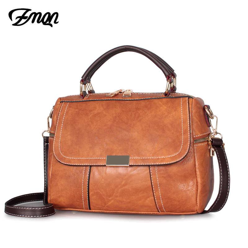 ZMQN حقيبة كروسبودي للنساء 2019 خمر حقيبة كتف صغيرة عبر الجسم رخيصة المرأة حقيبة يد جلدية الإناث بوسطن حقيبة براون C256
