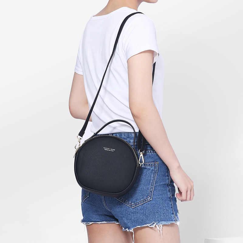 WEICHEN Новый круговой дизайн женская сумка через плечо кожаная сумка через плечо женская круглая Bolsa модная женская сумка