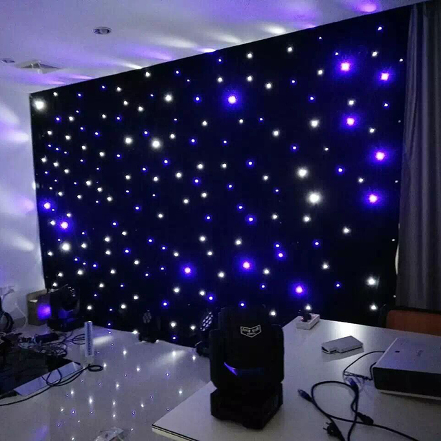 led star cloth curtain backdrop stage background fireproof