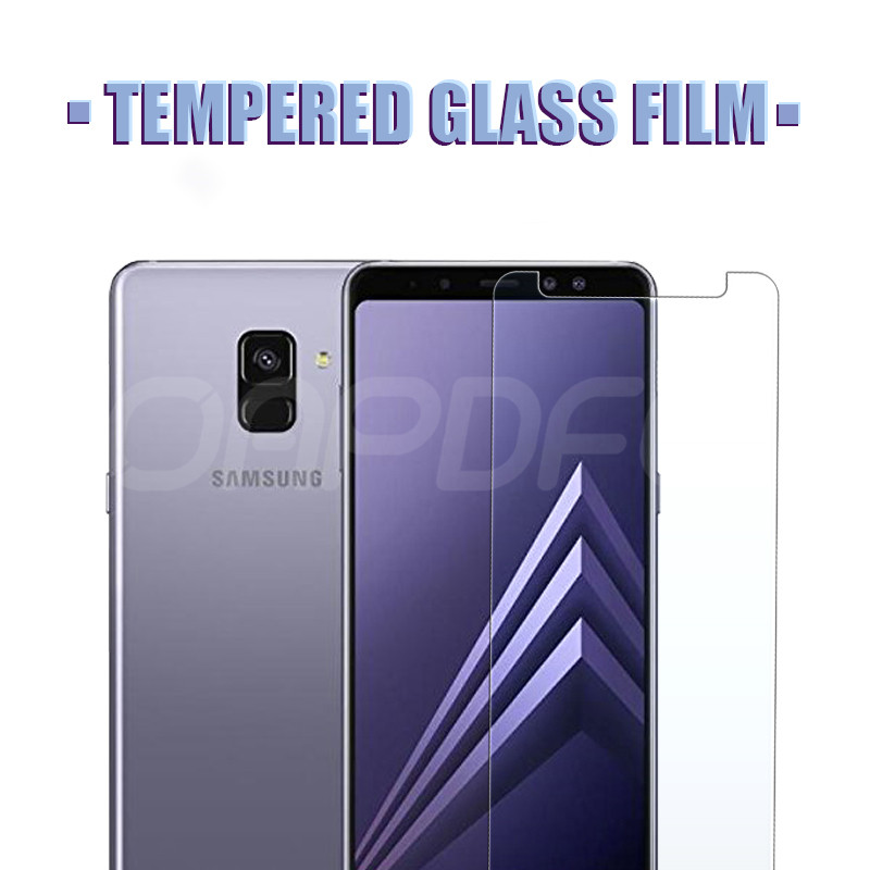 Image 2 - Premium Tempered Glass For Samsung Galaxy A3 A5 A7 2015 2016 2017 A6 A8 Plus A9 2018 Screen Protector HD Protective Film Case-in Phone Screen Protectors from Cellphones & Telecommunications
