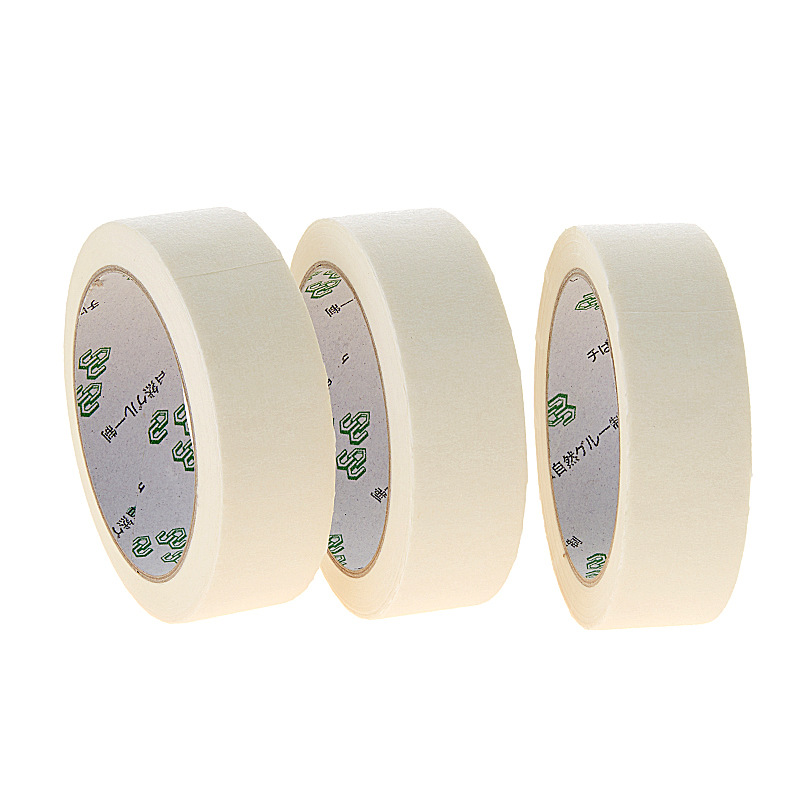 Masking Tape White Color 12/18/24mm Single Side Tape Adhesive Crepe Paper for Oil Painting Sketch Drawing Supplies Wholesale 4