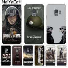 Maiyaca Band Of Brothers Ponsel Case Slim Clear Soft TPU Cover UNTUK Samsung S9 S9 Plus S5 S6 S6edge S6plus s7 S7edge S8 S8plus(China)