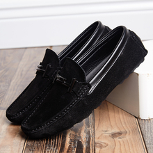 Summer Suede Leather Mens Loafers Luxury Brand Top Men's Cas