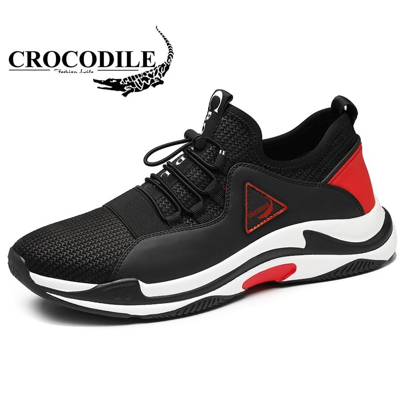 Крокодил на открытом воздухе Для мужчин мужские кроссовки 2018 Лето амортизацию мужской Спортивные Кроссовки Обувь Для мужчин вентиляции ...