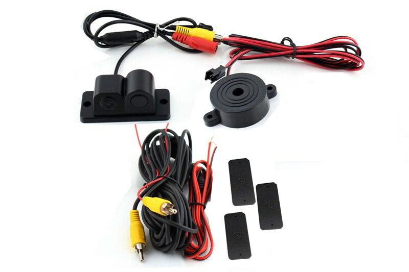 2 in1 Parkimiskaamera andurid Mustad andurid Tagasikäik Radar Auto - Autode Elektroonika - Foto 5