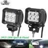 CO LIGHT 2PCS Car LED Work Light Offroad Lights 18W 6500K Cree Led Chips Flood Spot