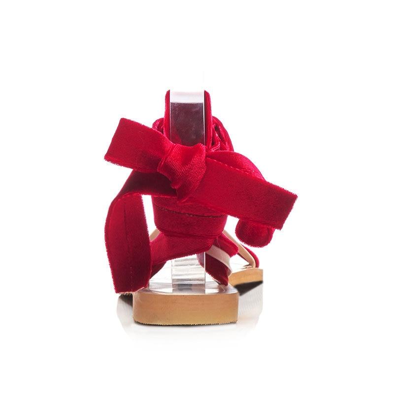 Faible 34 Femmes Chaussures Concis 2019 Wrap Sandales Femme De Velours Pour rouge 47 Cheville Ribetrini D'été argent Mode Taille Talons Respirant Noir Grande mvO8n0wN