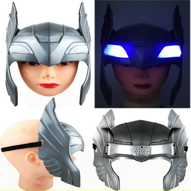 Action & Toy Figures Avengers Alliance Thor Luminou Helmet And Hammer Action Figure Toy Children Cosplay Thor Helmet And Hammer Toys Birthday Gift