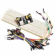 MB102 Breadboard power module+MB-102 830 points Solderless Prototype Bread board kit +65pcs jumper wires for Arduino Raspberry