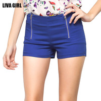 Women Clothes Summer Women Candy Colors Slim Hot Pants Workout Waistband Fitness Shorts Fashion Casual Short