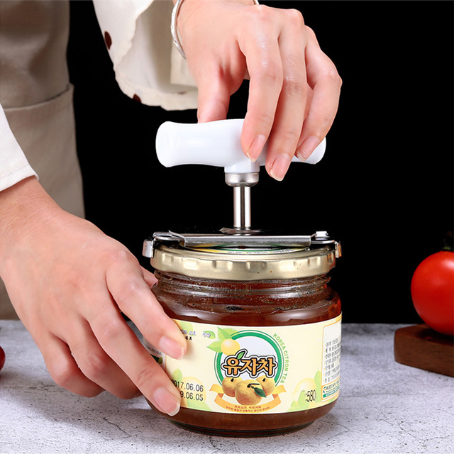 Adjustable Jar Opener Stainless Steel Lids off Jar Opener Bottle Opener Can Opener for 1-4 inches Kitchen Gadget 1