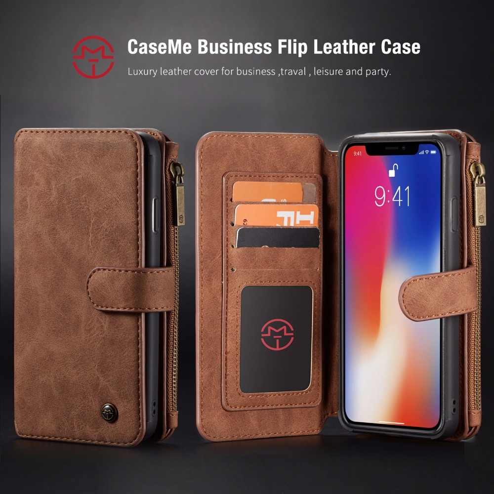 00a00a294dda Caseme For iPhone XS XR Wallet Case Magnetic detachable 2 in 1 Card ...