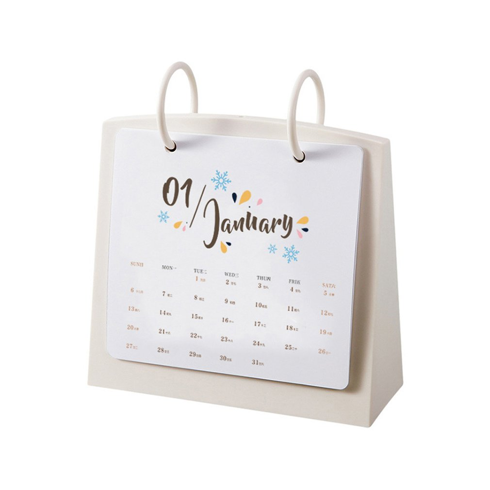 Office & School Supplies Neue Mode Kunststoff Schreibtisch Kalender Kreative Schreibtisch Vertikale Papier Multi-funktion Zeitplan Zeitplan Planer Notebook Angemessener Preis Kalender