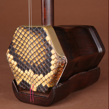 Quality Rosewood Erhu Chinese Violin Traditional Musical Instrument Two String Fiddle Flat Pole Hexagonal Sound Box Nanhu Manual