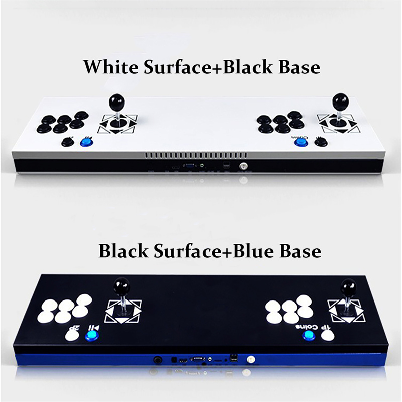 New Arcade Joystick Ultra Thin Metal Arcade Gaming Box Double Stick Arcade Console Plug In 680 Home Video Arcade Games Machine arcade joystick gamepad kit 800 games in 1 video tv jamma 2 joystick vga hidmi metal double stick arcade console with 2players