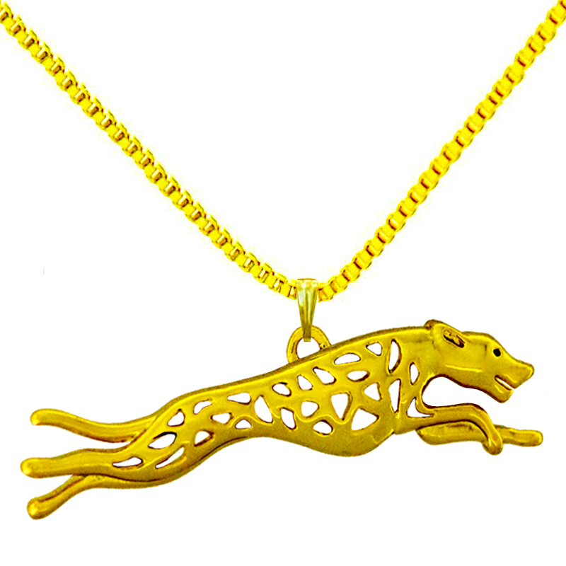 Greyhound Dog Animal Pendant Necklace Gold-color for Women Handmade Charms for Pet lovers Fashion Jewelry Wholesale 2017