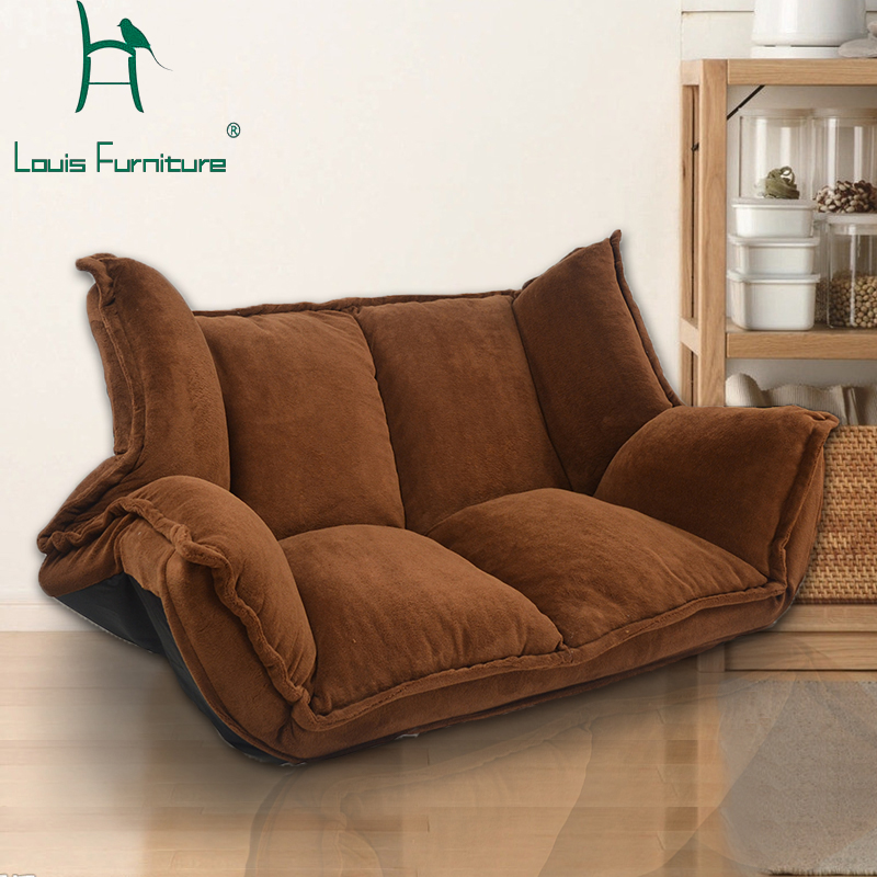 European Style Modern Lady Sofa Adjule Creative Bed Folding Comfortable And Herbal Skin High Quality Countryside Couch