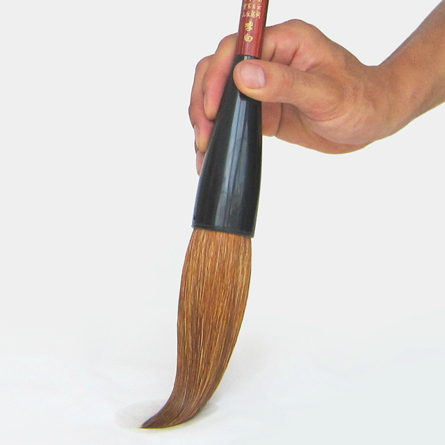 Brosse en forme de trémie fouine cheveux écriture brosses ours brosse à cheveux Script régulier Festival Couplets peinture calligraphie stylo brosse