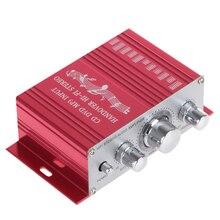 Kentiger DC 12 V Entrega Hi-Fi Mini Auto Car Amplificador Estéreo Soporte Amplificador de Audio CD DVD MP3 de Entrada para La Motocicleta Del Barco casa