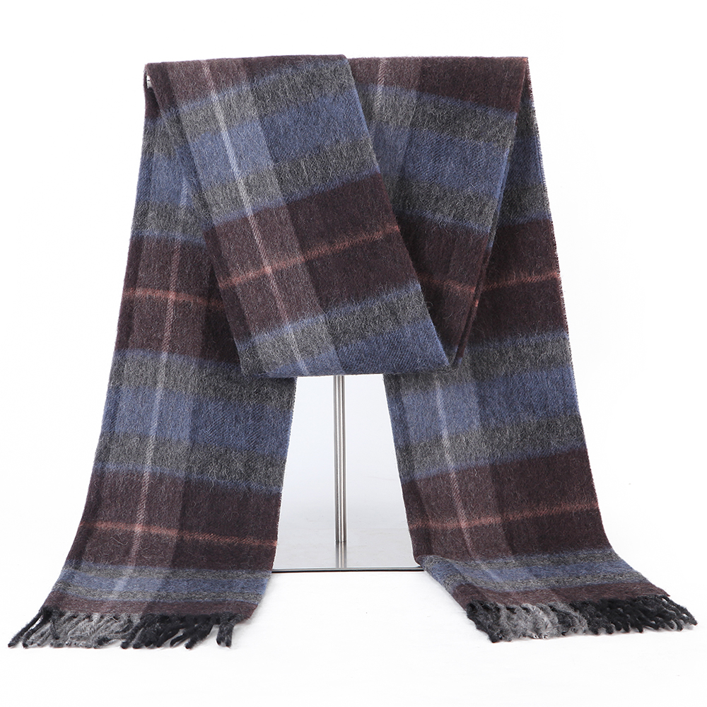 Image 5 - 100% Lamb Scarf Strip Solid Plaid Wool Scarf Luxury Classical Warm Long Soft Cashmere Winter Scarves for Men Winter Accessories-in Men's Scarves from Apparel Accessories on AliExpress