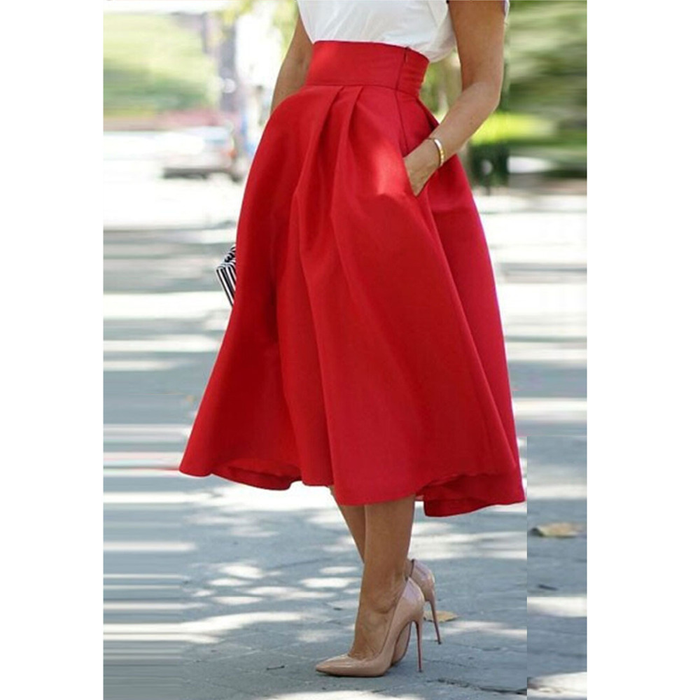 Compare Prices on Red Flared Skirt- Online Shopping/Buy Low Price ...