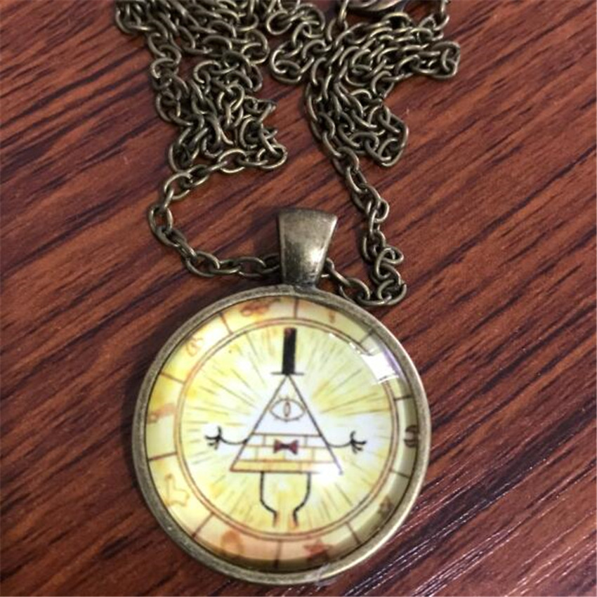 Anime Gravity Falls Cosplay Costumes Props Accessories Time Gem Cabochon Necklace