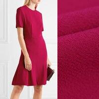 140 см шириной 470 г/м Вес Rose Red Solid Цвет двусторонний шерсть креп Ткань для весны и осени платье рубашка пиджак e479