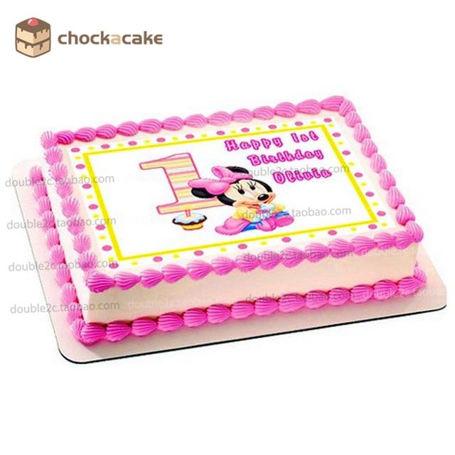 Minne Princess 1st Birthday Cake Topper For Baby Girl Edible