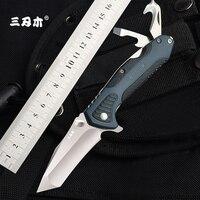 Sanrenmu 7094 multi-funktion tasche messer notwendigkeit outdoor survival Jagd Utility Obst Messer Super Militär EDC Tasche Werkzeug